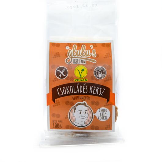 Glulu's Free From Csokoládés keksz 100g - gluténmentes, vegán