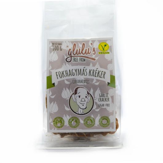 Glulu's Free From Cukormentes fokhagymás kréker 100g - gluténmentes, vegán