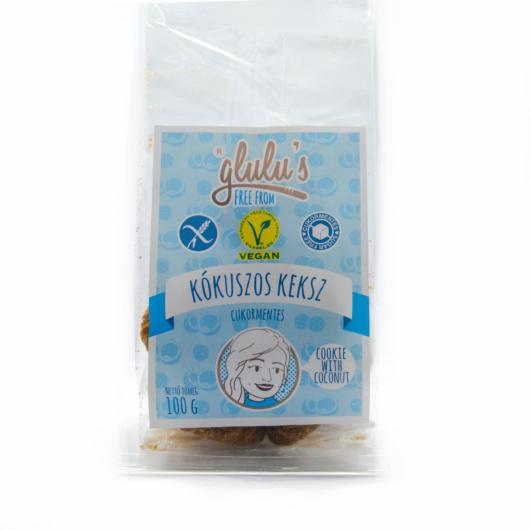 Glulu's Free From Cukormentes Kókuszos keksz 100g - gluténmentes, vegán