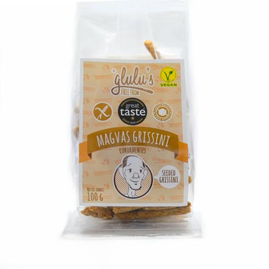 Glulu's Free From Cukormentes magvas grissini 100g - gluténmentes, vegán