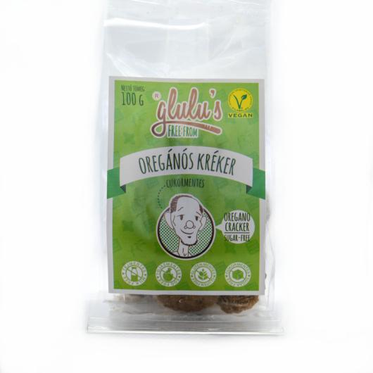 Glulu's Free From Cukormentes Oregánós kréker 100g - gluténmentes, vegán, cukormentes